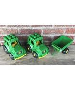 MEGA BLOKS JOHN DEERE Tractors ERTL grain wagon plastic green LOT OF 3 - $14.03