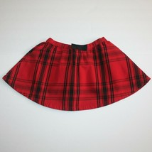 Crazy 8 Holiday Party and Holiday Pictures Bow Red Plaid Skirt 4 NWT - $9.99