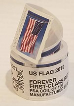 USPS Forever Stamps Roll of 100 - 2019 Flag Version - $101.76