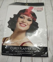 Curly Flapper Wig Black Costume Culture By Franco halloween dress up cosplay - $16.44