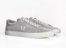 Fred Perry Men's Underspin Suede Leather Trainers Shoes - B9091-929 - Si... - $77.75