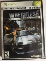 Wreckless (XBOX1056) Xbox-TESTED-RARE Collectible VINTAGE-SHIPS In 24 Hours - $11.76