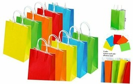 20 Pieces Paper Party Bags Gift Bag Kraft Bag with Handle for Color B - $19.38