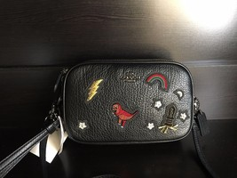 NWT COACH Crossbody Clutch in Grain Leather with Souvenir Embroidery rex... - $264.40 CAD