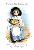 Wishing You Easter Joy by Ellen H. Clapsaddle - Art Print - $19.99+