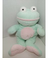 Ty Pluffies GRINS Frog Plush Green Pink Froggy Stuffed Animal 2002 Tylux  - $6.92