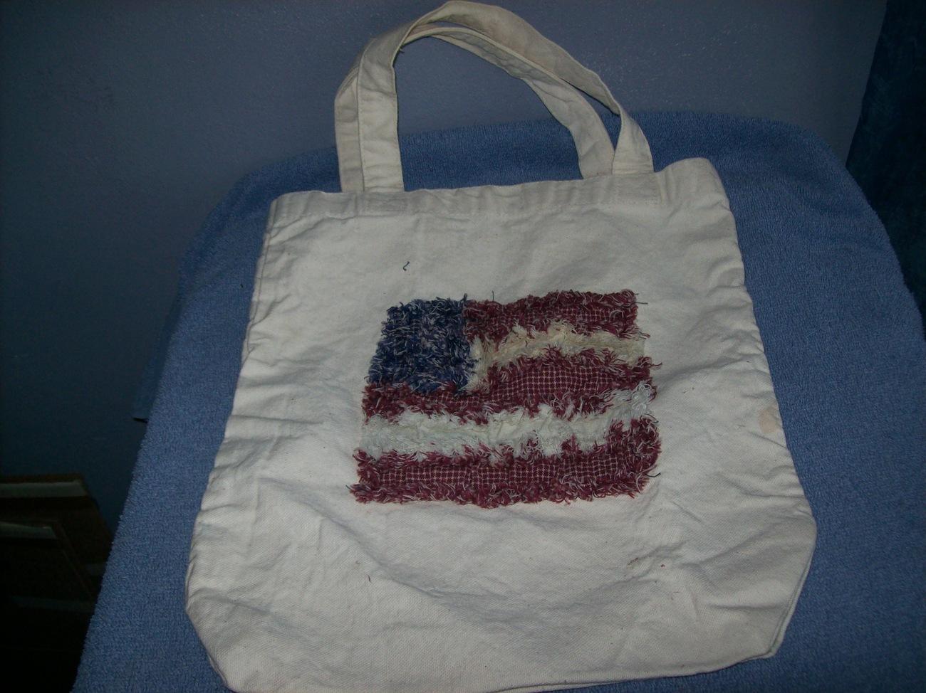 patriotic canvas tote bag