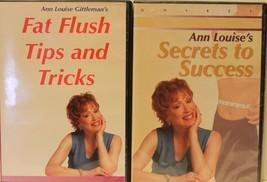2 Ann Louise Gittleman secret to success DVD & Fat Flush tips and tricks... - $28.49