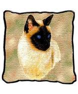 """17"""" Large SIAMESE CAT Kitty Pillow Cushion Tapestry - $32.50"""