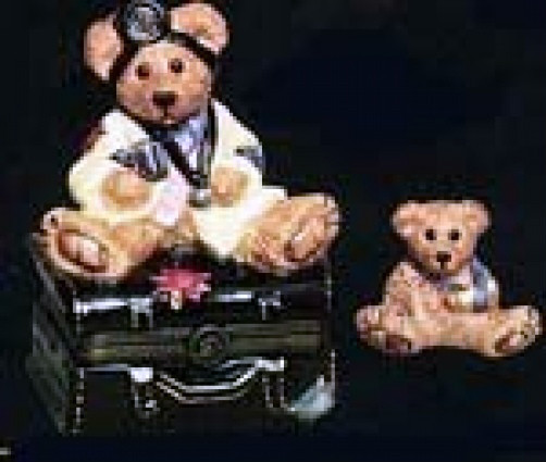 "Primary image for Boyds Bears-LeBearmoge Porcelain Box ""Dr. Harrison Griz..MD,PhD"" #392011-2E-NIB"