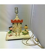 Vintage 1970s Wooden Cinderella Fairy Tale Lamp Kids Nursery Light 13″ –... - $99.99