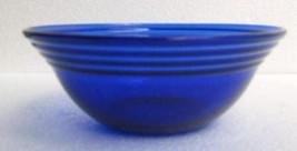 Vintage (1) Cobalt Blue Depression Ribbed Designed Collectible Dessert G... - $16.99