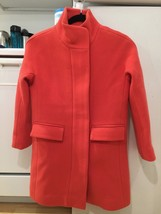 J.Crew Wool Stadium-Cloth Coral Cocoon Coat Size 00 Retail $350 34% OFF SOLD OUT - $229.99