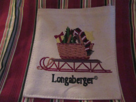 LONGABERGER PURSE SLEIGH  #100 - $11.88
