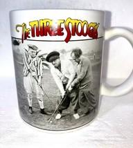 The Three Stooges Coffee Mug Moe Larry Curly Playing Golf Ceramic  - $11.76