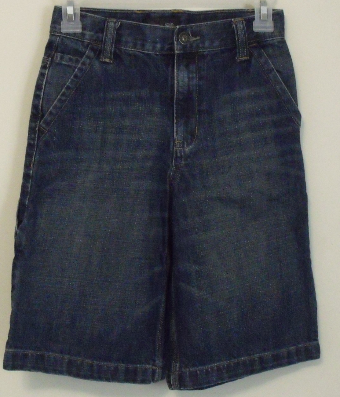 Primary image for Boys Old Navy Carpenter Style Denim Blue Cotton Shorts Size 12 Slim