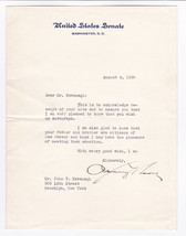 A. HARRY MOORE - NEW JERSEY GOVERNOR & U.S. SENATOR - 1936 SIGNED LETTER - $19.80