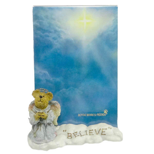 "Boyds Bearstone Frame  ""Faith...Believe in Miracles"" #27317 -1E -  2002 - NIB"