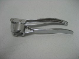Vintage Chrome Plated Metal Kitchen Garlic Squeezer Press Made in Taiwan - ₨715.90 INR