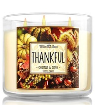 Bath and Body Works Thankful Chestnut and Clove Candle - Large 3-wick 14... - $55.99