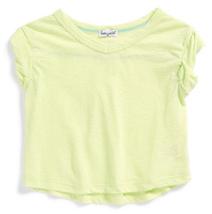 Splendid Girl's Slub Knit Top, DGA01191X, Green Lime, Size 6X, MSRP $38 - $19.79