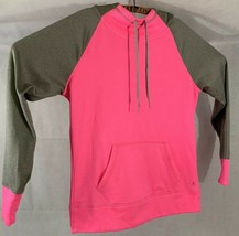 Danskin Pink Gray Women's Hooded Pullover, Size M (8-10) Hoodie Dri-more... - $14.80
