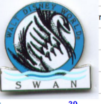 Swan hotel Authentic Disney Pin on card - $74.99