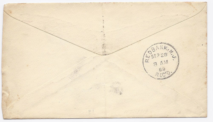 1899 Oceanic, NJ/Red Bank, NJ Discontinued/Defunct Post Office (DPO) Postal Cove