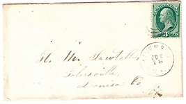 c1875 Riverside, ME Discontinued/Defunct (DPO) Postal Cover - $9.95