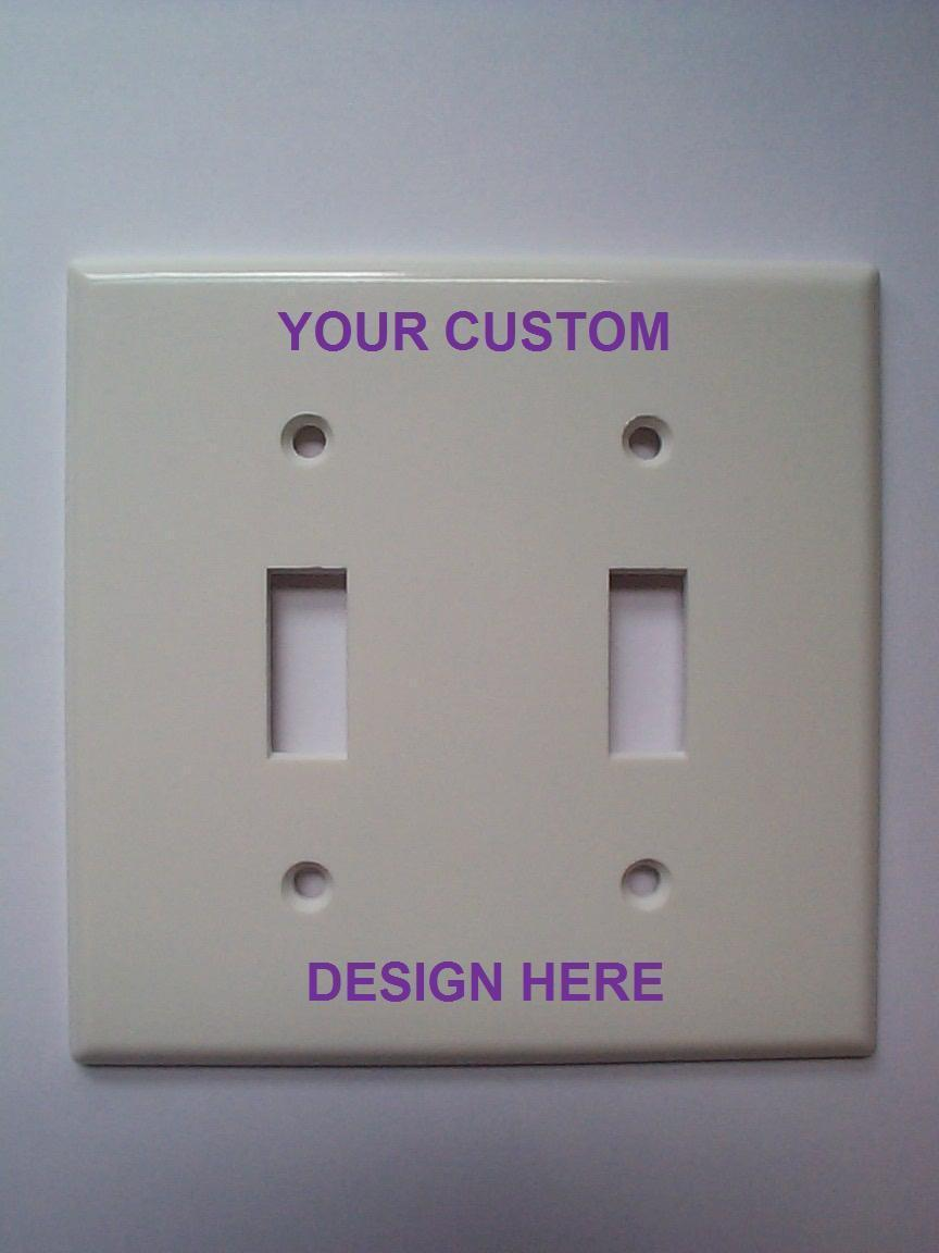 Custom double light switch plate switch plates outlet for Unique light switch plates