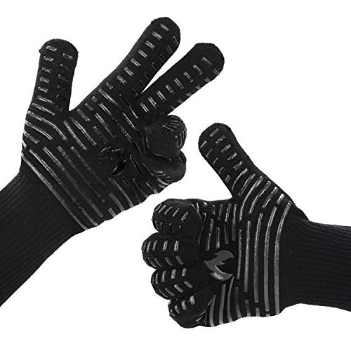 """BETLLEMORY Oven Gloves,932℉ Extreme Heat Resistant BBQ Gloves Grill Gloves,13.5"""""""