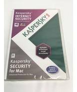 Kaspersky Internet Security 2012 For Mac OSX 10 Windows 8 Sealed Brand New - $14.69