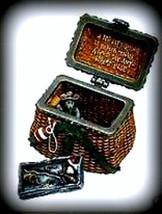 "Boyds Treasure Box ""Opie's Creel Basket w/ Minnow McNibble"" #392125- NIB- 2E-Ret - $19.99"