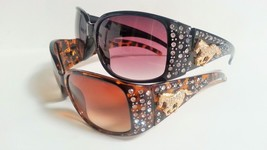 Womens Fashion Sunglasses Rhinestones Horse Cowgirl Style Bling - £8.60 GBP