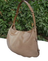 Liz Claiborne Warm Beige Super Soft Leather Hobo Shoulder Bag - $28.00