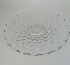 "Fostoria American Crystal 14"" Diameter Round Torte Or Serving Plate Pre 1982 - $30.09"