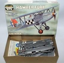 Vintage LIFE-LIKE 1:48 P-608 HAWKER FURY RAF Inceceptor Biplane Model Ki... - $15.00