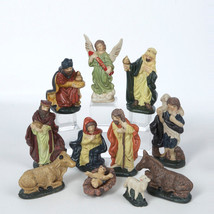Kurt S. Adler Ceramic 11 Piece Nativity Figurine Set Christmas Decoration - $18.88