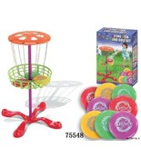 BOYS HAVE FUN TOYS Disc Golf Mini Basket with 6 Frisbee Discs - $14.99