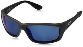 Costa Del Mar Jose Matte Gray w/ Blue Lens Rectangular Sunglasses - $177.31