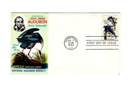 FDC ENVELOPE- JOHN JAMES AUDUBON-NATIONAL AUDUBON SOCIETY w/CARD 1963 BK12 - $3.19