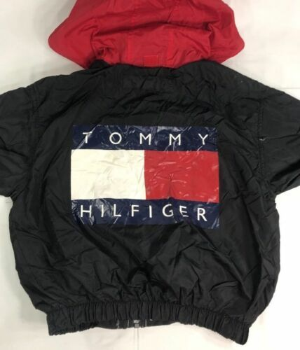 Primary image for Vintage Tommy Hilfiger Jacket Windbreaker 90s Flag Colorblock Sailing Youth
