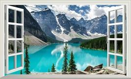 Banff National Park Moraine Lake Canada 3D Magic Window Wall Art Adhesive Vinyl$ - $14.82+