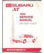 1990 Subaru Service Manual XT6 OEM Factory  Mechanical Components and Bo... - $30.00