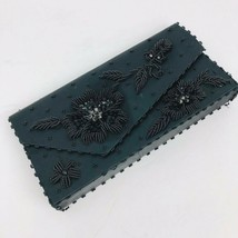 Vintage Beaded Black Evening Bag Clutch 1960s The Akron Fortune Hong Kong - $39.59