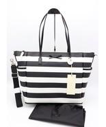 NWT Kate Spade New York Eden Street Stripe Adaira Black White Baby Diape... - $218.00