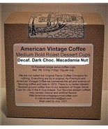 Decaf. Dark Choc. Macadamia Nut Flavored Dessert Coffee 10 Medium Bold K... - $10.41