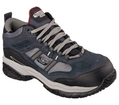 Men's Skechers Work: Relaxed Fit Soft Stride - Canopy Com, 77027 Nvgy Sizes 8-14 - $89.95