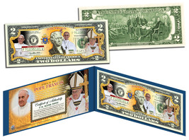 POPE FRANCIS * March 13, 2013 * Legal Tender US $2 Bill with Folio & Cer... - $13.81