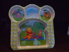 Disney Winnie the Pooh Character Plastic Divided Kids Plate image 1